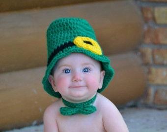 Leprechaun Set, Leprechaun Beanie, Leprechaun Outfit, Leprechaun Costume, Baby Shower Gift, Photo Prop, St Patricks Day, Halloween Costume