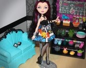 "Raven's ""Batastic"" Batman Print Sweetheart Dress (Fits Monster High & Ever After High Dolls)"