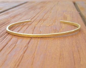 Yellow gold cuff bracelet-18k plain gold cuff bracelet-statement bracelet-stacking cuff bracelet- gold cuff bracelet