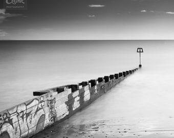 Seeking the Horizon. England's South Coast, Dorset Photography Seascape Print.