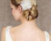 "Bridal Silk Flower, Wedding Hair Flower - ""Marie"""