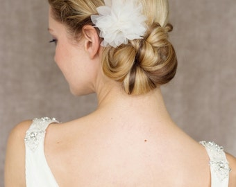 "Bridal Silk Flower, Wedding Hair Flower - ""Marie"""