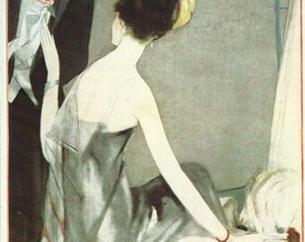 Vogue magazine cover 1923 Art Deco Dress Suit Fashion Illustration Vogue Poster Art Deco Home Decor Print Fine Art