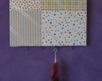 Handmade Bulletin Board -- Yellow Material Message Board -- Wall Hanger -- Jewellery Board