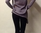 Handmade women sweater. Comes with two knotted scarves.