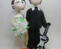 guitar player wedding cake topper shop cake toppers related items directly from 15015
