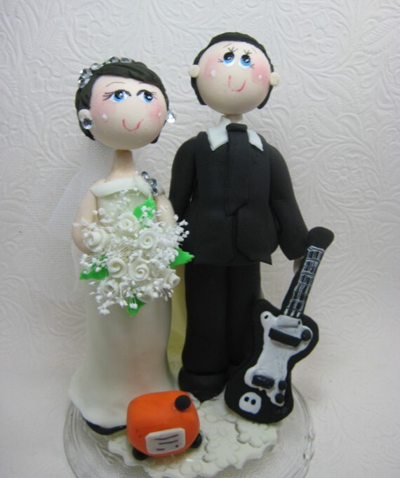 guitar player wedding cake topper wedding cake topper guitar player groom guitar cake by 15015