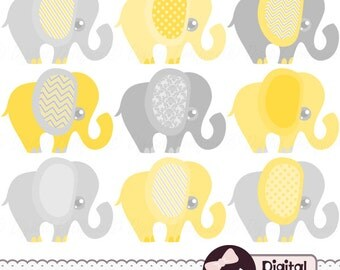 Clip Art Baby Elephant Clip Art baby elephant clipart etsy yellow and gray clip art graphic images