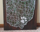 The Original Ohio University Pawprint String Art Ohio State String Art 16X16