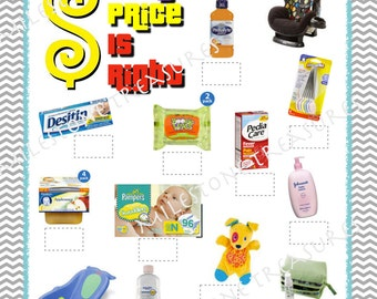 Baby Price is Right Game for Instant Download Green Apple
