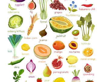 Fruits and Veggies A to Z!