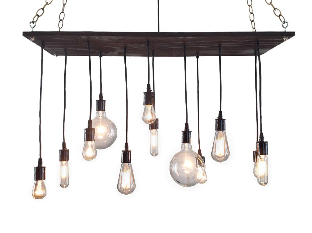 Urban chandelier rustic chandelier industrial chandelier - Light fixtures chandeliers ...