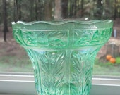 Imperial Glass (Acorn Pattern) Vintage small vase in Ice Green