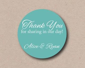 Wedding Thank You Stickers Custom Wedding Favor Labels Thank You Tags Favor Box Stickers Welcome Bag Labels Welcome Bag Stickers