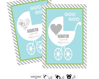 Boy Baby Shower Games Scratch Off Game Baby Shower Scratch Off Cards  Fun Baby  Shower