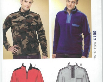 Sewing Pattern - Out of Print Mens Pattern, Shirts Pattern, Kwik Sew # K3817