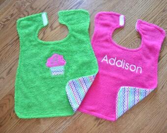 Personalized set of oversized bibs! / Baby Bibs