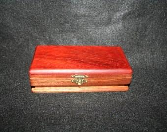 Small Sapele and Padauk Box