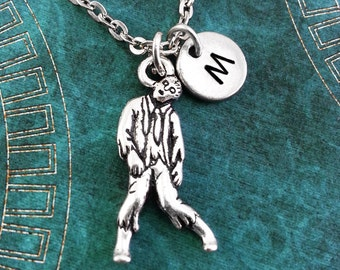 Zombie Necklace Zombie Jewelry Personalized Jewelry Zombie Pendant Zombie Survival Zombie Charm Necklace Apocalypse Necklace Zombie Gift