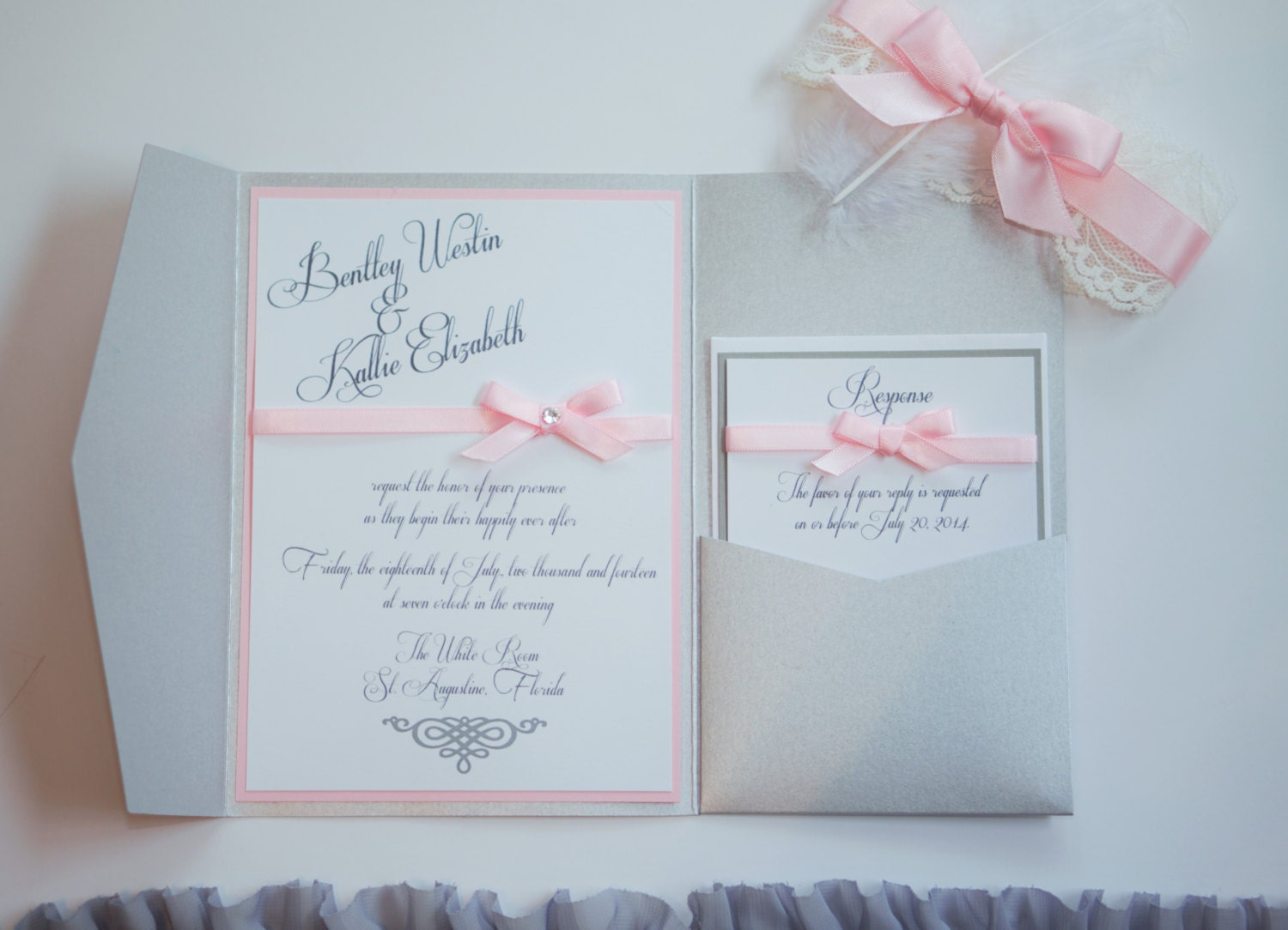 The Alissandra – Shimmer Silver, Light Pink and Gray Wedding ...