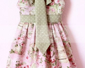 Sibling Set, Boutique Dress and Tie, Tea Time, Brother Sister Outfit