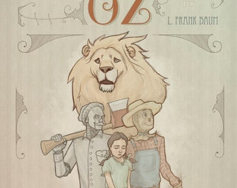 Wizard of Oz Art Print, light version