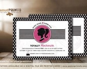 Barbie Birthday Party Invitation - Printed OR Digital File - by peanutPRINTS