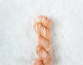 peaches and cream - worsted weight yarn - 100% superwash merino wool