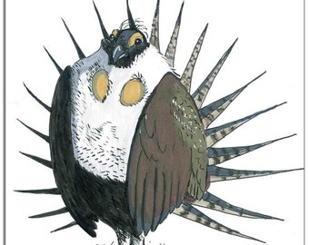 Sage grouse drawing - photo#38