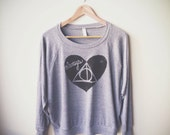 """Harry Potter Sweater """"Always"""". Women's Slouchy Pullover. MADE TO ORDER"""
