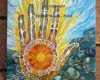 Healing Medicine Hand Canvas Giclee signed Helena Nelson - Reed art