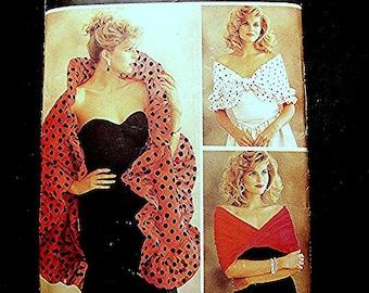 Womens Evening Wrap Pattern Wrap Shrug Pattern UNCUT 9 styles Womens Shawl, Off Shoulder Wrap Vintage Sewing Pattern