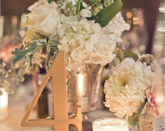 Gold Wedding Table Numbers for Weddings and Events Wedding Decor for Wedding Table Numbers, Wedding Signs SET OF 1-20 (Item - NUM120)