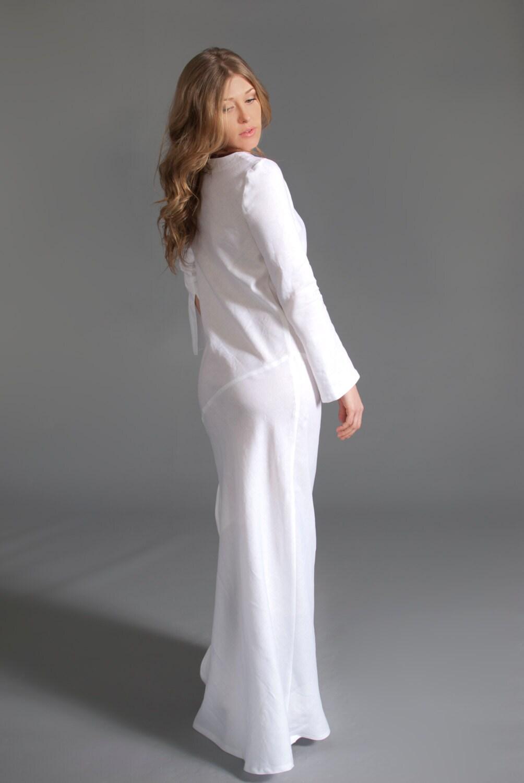 White Linen Dresses Women