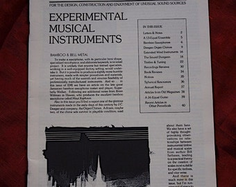 Experimental Musical Instruments 1993 Circuit Bending Bamboo Saxophone Organ Chimes Sound Art Design Construction Unusual Sources Music