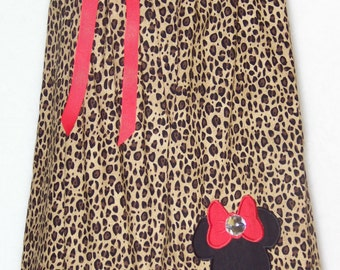 Minnie Mouse Cheetah Dress / CHEVRON / Red & White / Bling / Birthday / Newborn / Infant / Baby / Girl / Toddler / Custom Boutique Clothing