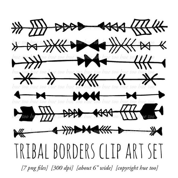 tribal borders clip art tribal arrow triangle chevron digital