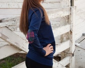 Elbow Patch Sweater | Navy Blue Sweater