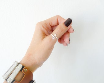 Sterling Thumb Ring Simple Thumb Ring Hammered Minimalist Ring For Women