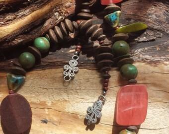 Earthscape Necklace/OOAK/Bold/Bohemian Necklace/Southwest Necklace