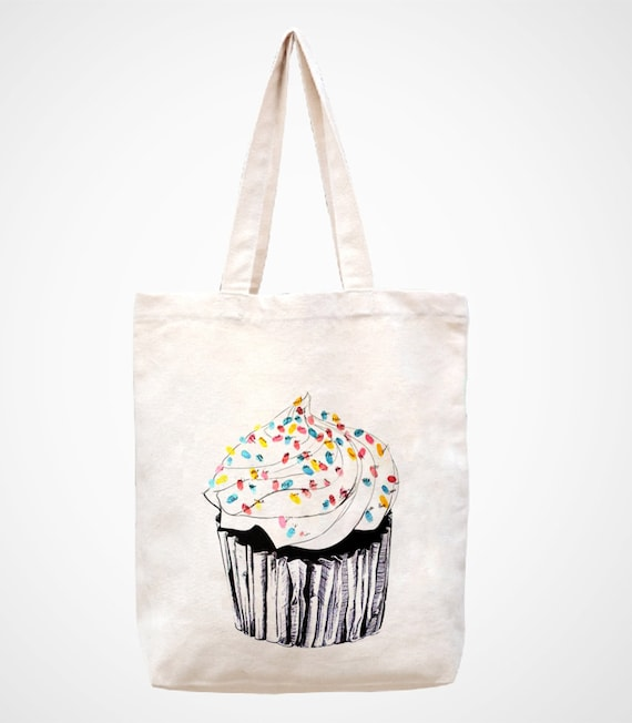Canvas Cake Decorating Bags : The cake canvas tote bag/Tote bag/Diaper by canvasanni on Etsy