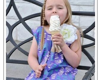 ADORABLE Ice Cream Ruffle Swing Dress by Carolina Kids