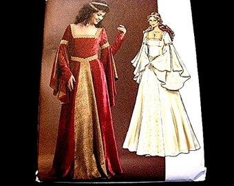 Butterick Historical Womens Medieval Renaissance Dress Pattern Misses Adult size 6 8 10 12 UNCUT