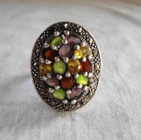 Etsy Multi Stone Ring