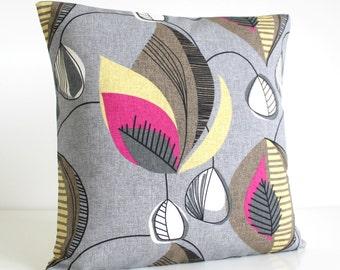 Decorative Pillow Cover, Pillow Sham, Cushion Cover, Cotton Pillows, Couch Pillow, Pillowcases, Grey Pillow - Chandelier Fuchsia