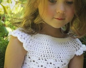 Girls Crochet Top Pattern: 'Mary's Shell', Wedding Flower Girl, Spring Fashion