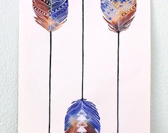 Arrow Art Print, Watercolor Painting, Bow and Arrow, Giclee Art Print, Archival Art Print - Earth Arrows
