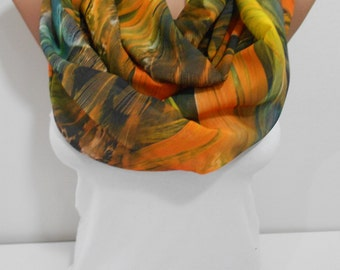 Infinity Feather Scarf  Loop Scarf Chiffon Circle Scarf Winter Women Holiday Fashion Accessories Thanksgiving Christmas Gift Ideas For Her