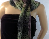 Scottish Green Purple Scarf Long Outlander Heather Thistle Jamie Claire Fraser FREE SHIPPING