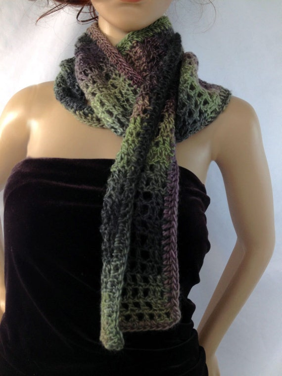 Scottish Green Purple Scarf Long Outlander Heather Thistle Jamie Claire Fraser Diana Gabaldon FREE SHIPPING